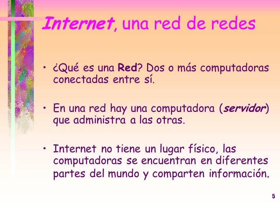 Internet, una red de redes
