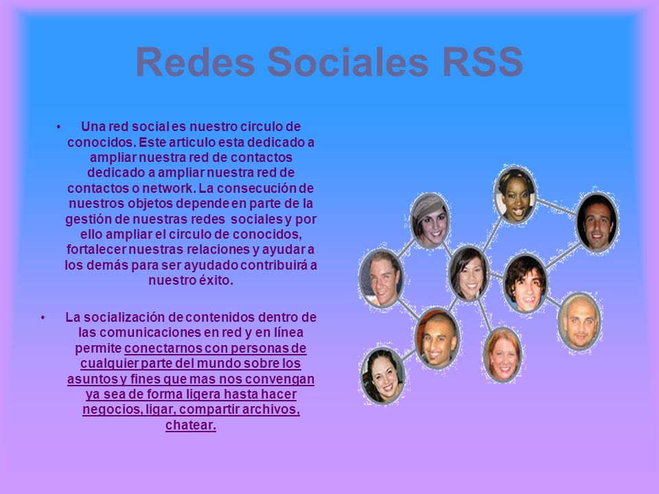 Redes Sociales RSS
