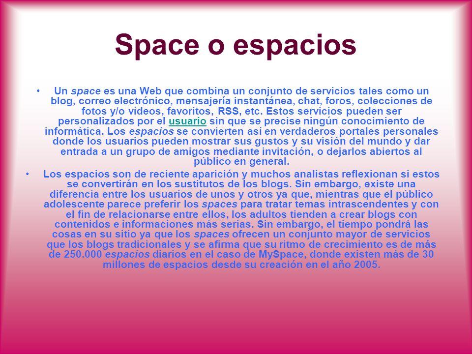 Space o espacios