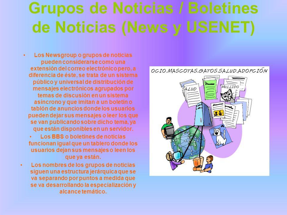 Grupos de Noticias / Boletines de Noticias (News y USENET)