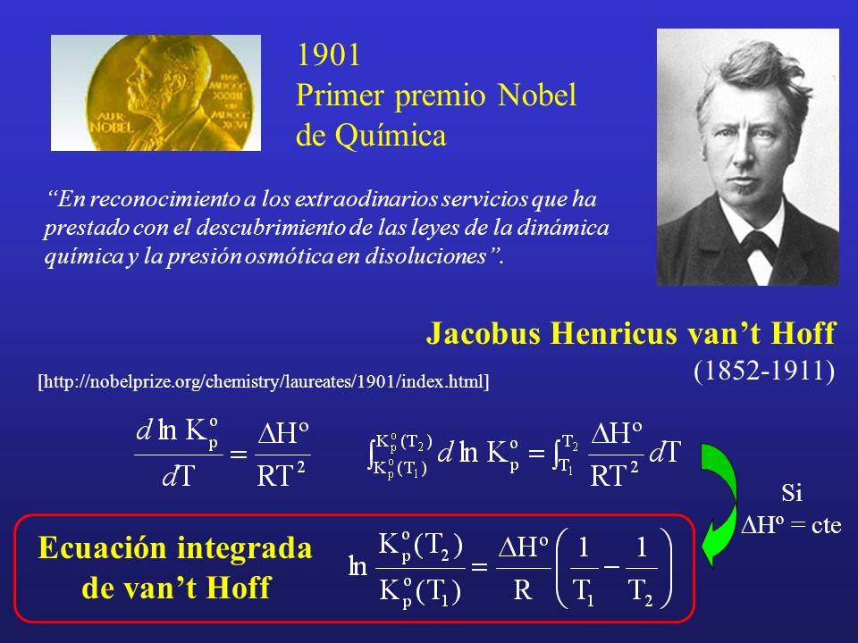 Ecuación integrada de van't Hoff
