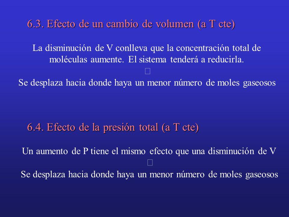 6.3. Efecto de un cambio de volumen (a T cte)
