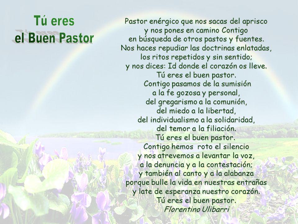 Tú eres el Buen Pastor Pastor enérgico que nos sacas del aprisco
