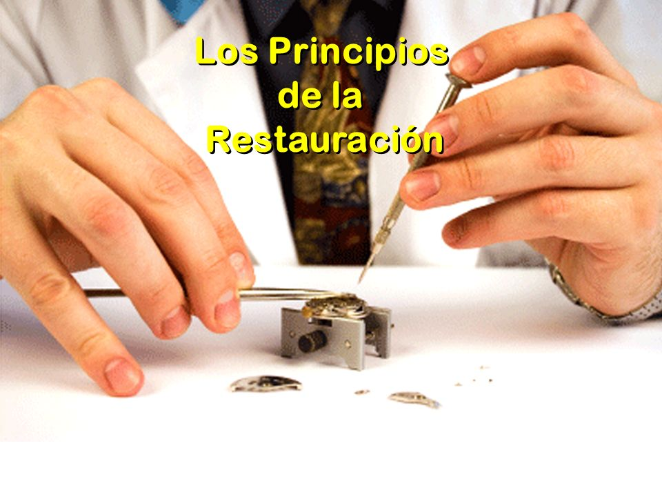 Los Principios de la Restauración
