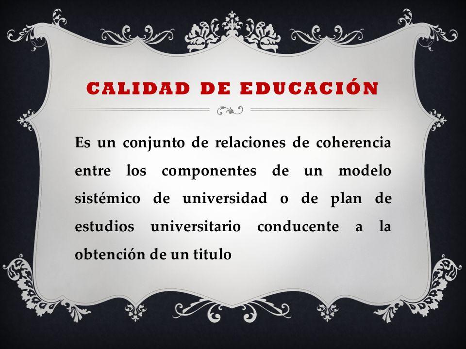 calidad de educación
