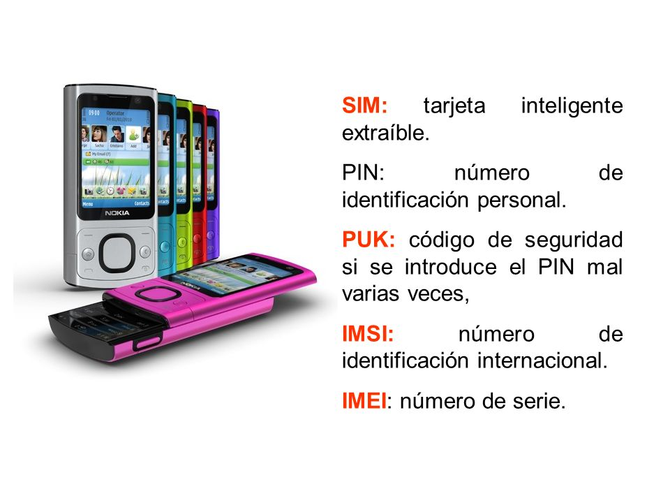 SIM: tarjeta inteligente extraíble.