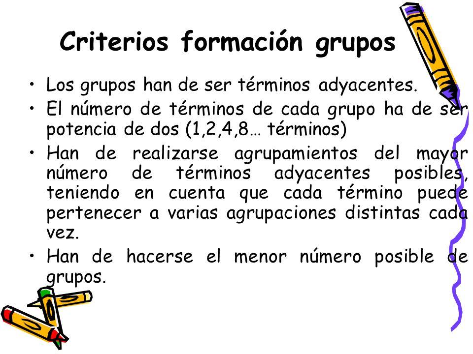 Criterios formación grupos