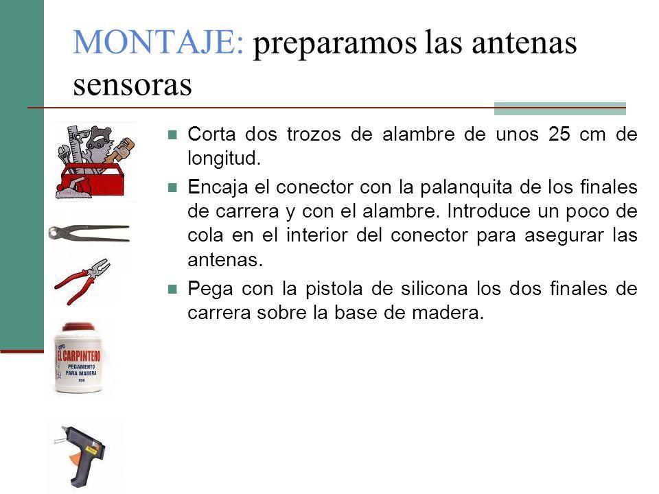 MONTAJE: preparamos las antenas sensoras