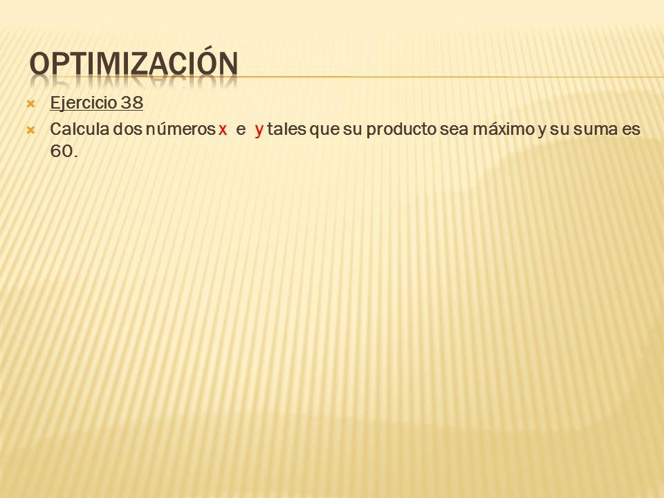 Optimización Ejercicio 38