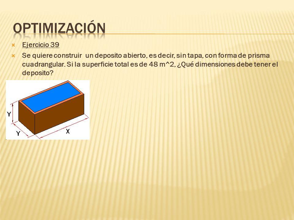 Optimización Ejercicio 39