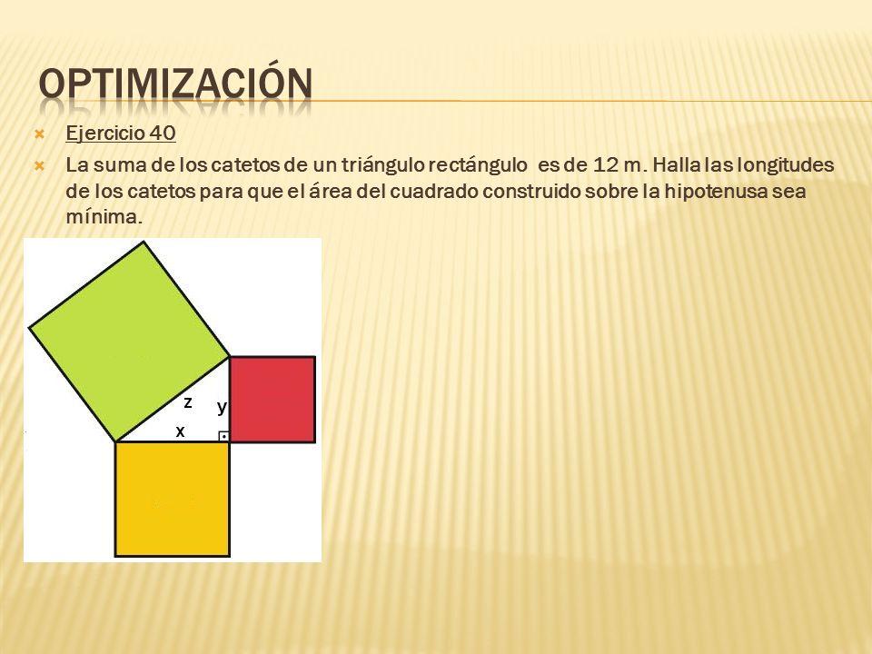 Optimización Ejercicio 40