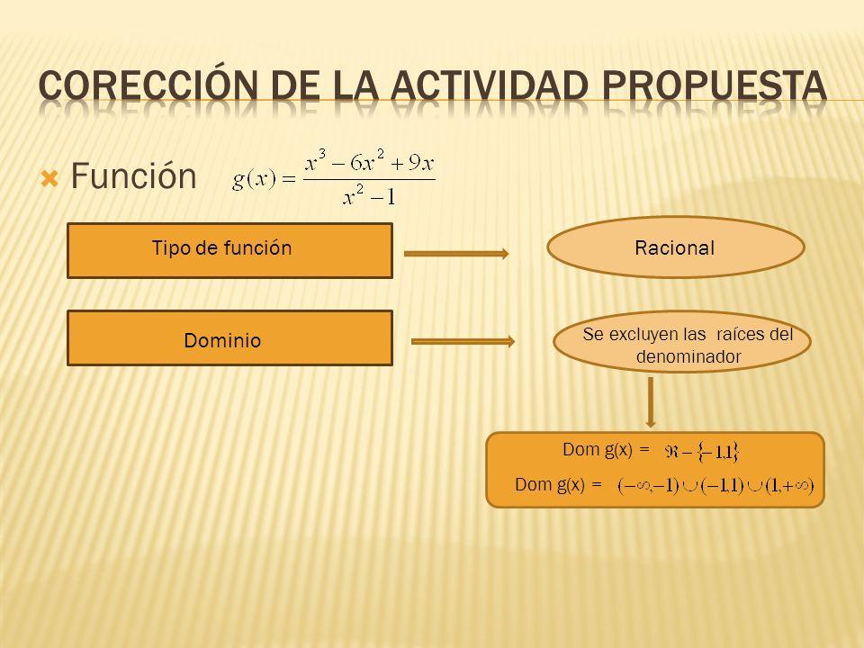 COREcCIÓN DE LA ACTIVIDAD PROPUESTA