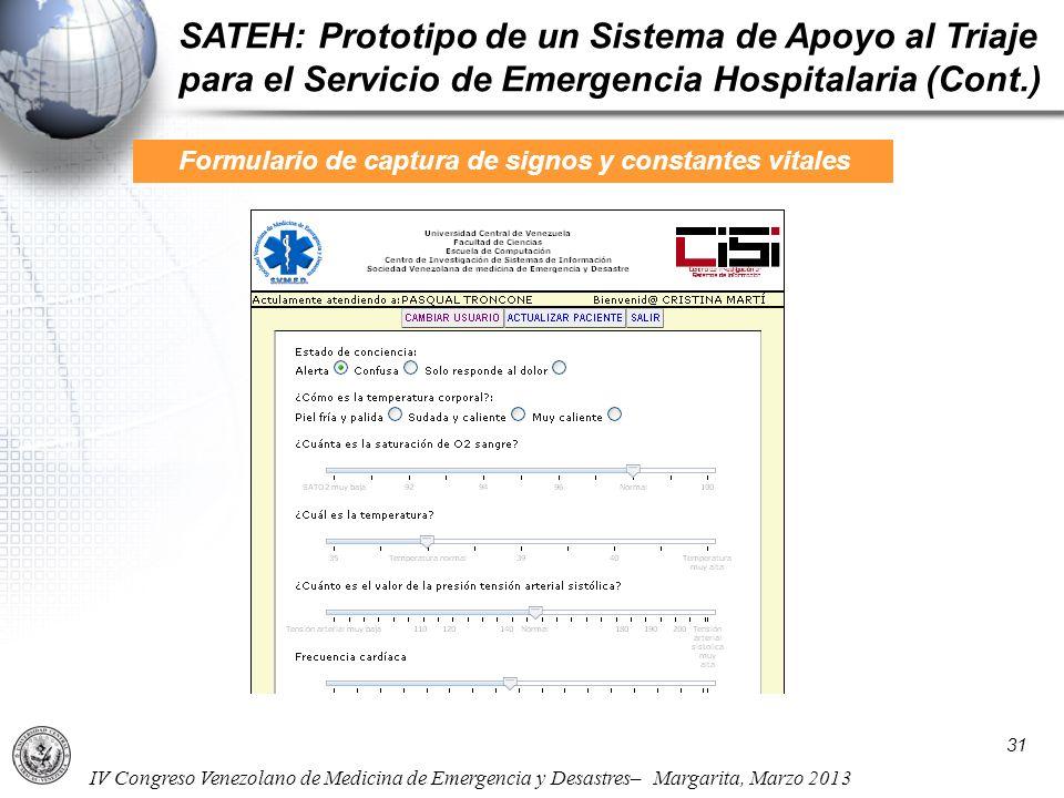 Formulario de captura de signos y constantes vitales