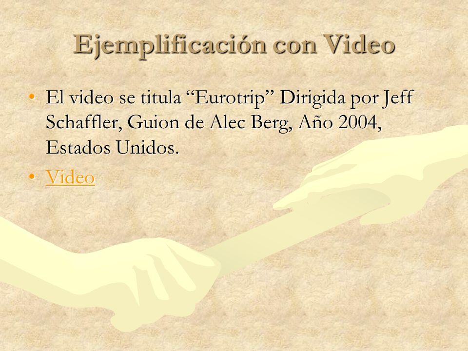 Ejemplificación con Video