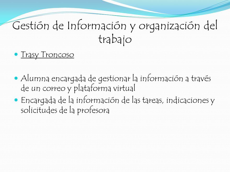 Gestión de Información y organización del trabajo