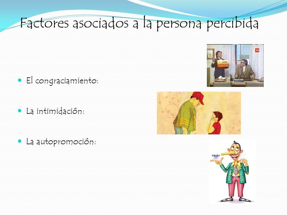 Factores asociados a la persona percibida