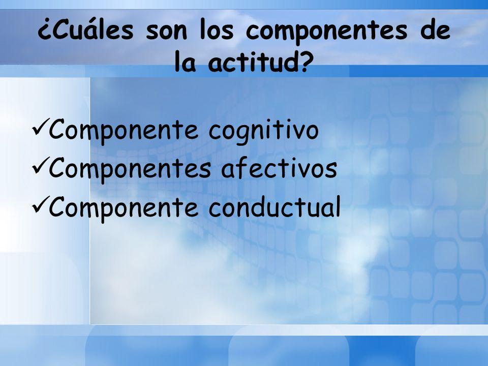¿Cuáles son los componentes de la actitud