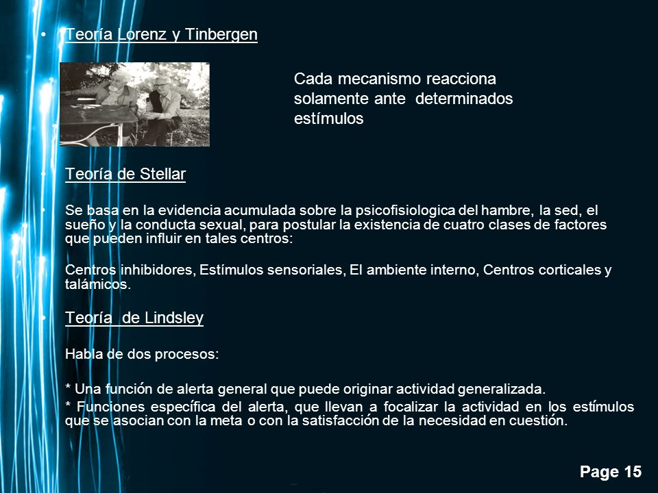 Teoría Lorenz y Tinbergen