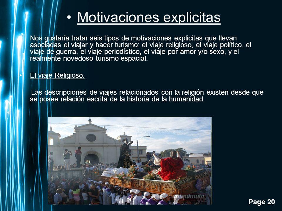 Motivaciones explicitas