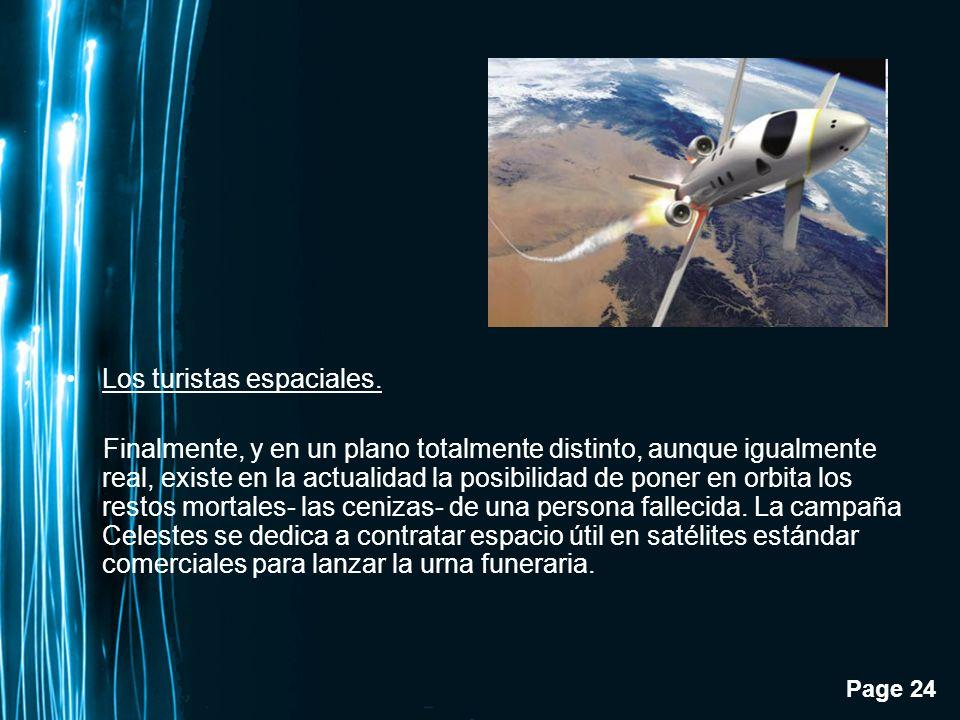 Los turistas espaciales.
