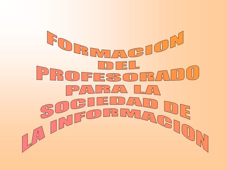 FORMACION DEL PROFESORADO PARA LA SOCIEDAD DE LA INFORMACION