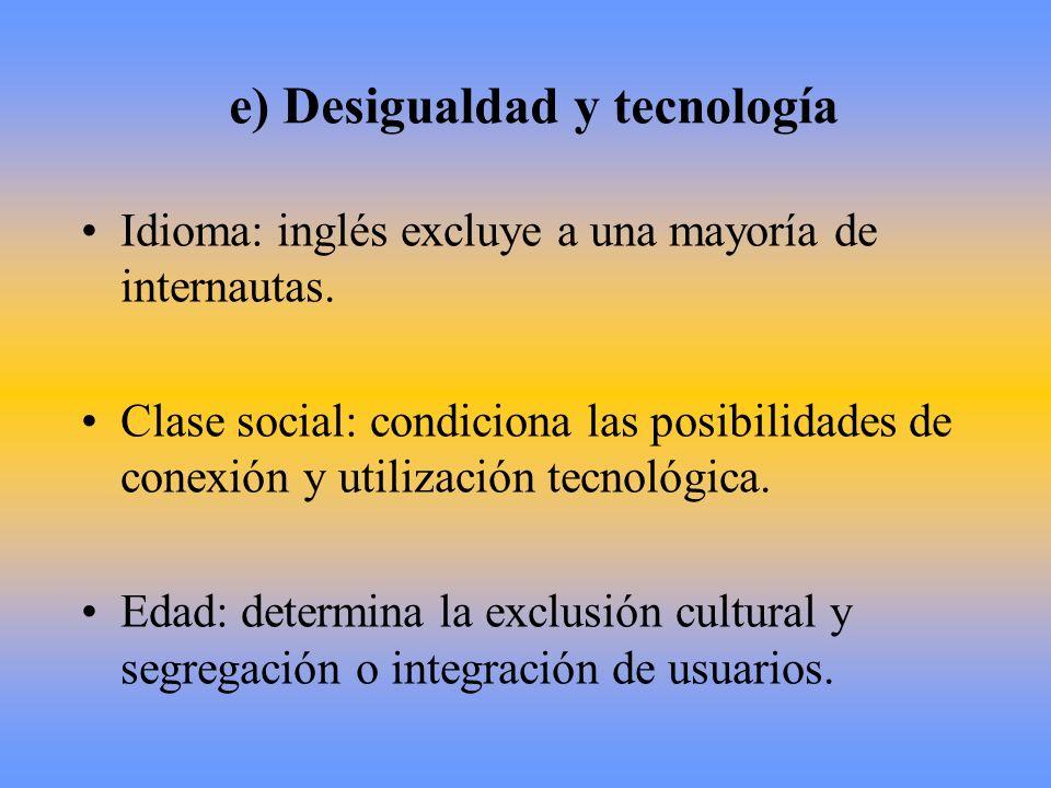 e) Desigualdad y tecnología