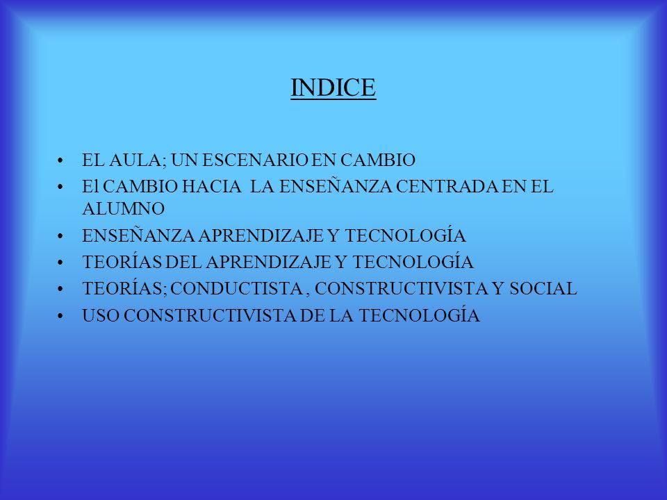 INDICE EL AULA; UN ESCENARIO EN CAMBIO