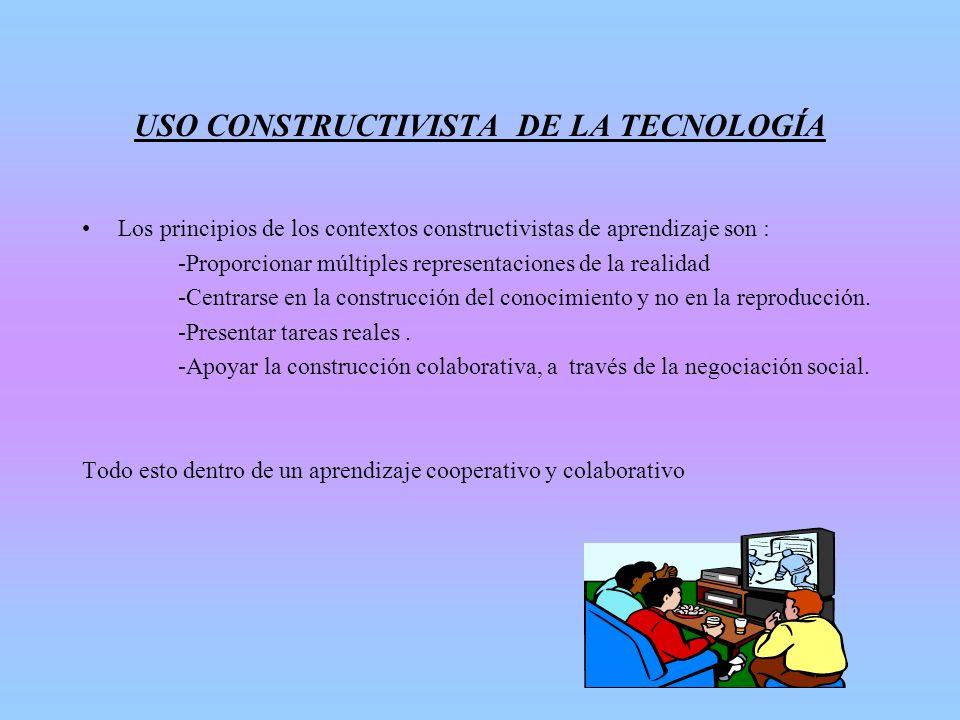 USO CONSTRUCTIVISTA DE LA TECNOLOGÍA