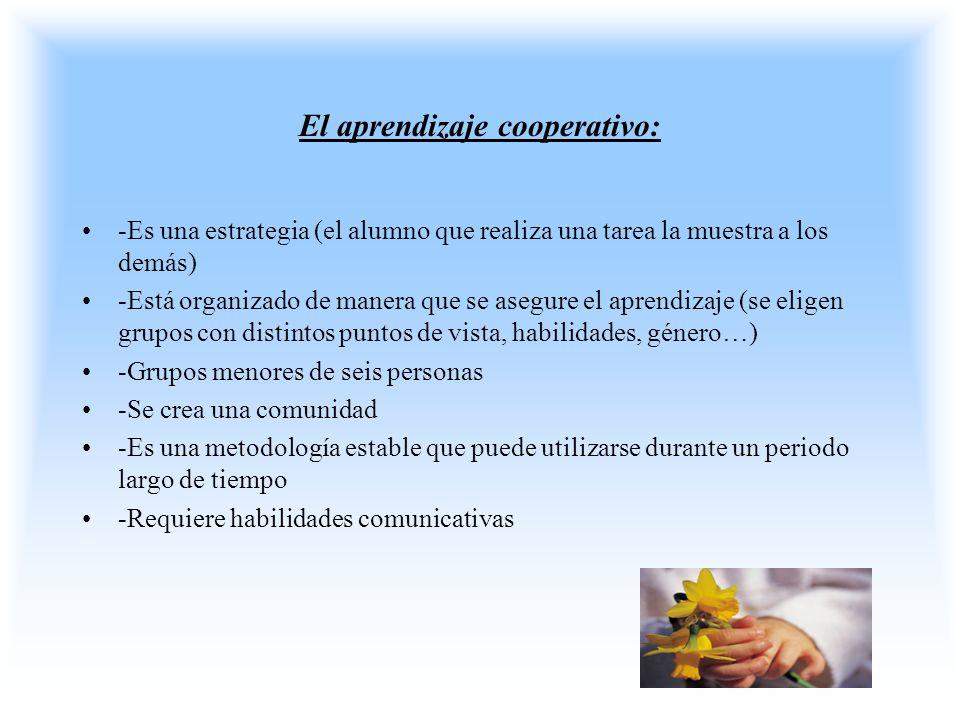 El aprendizaje cooperativo: