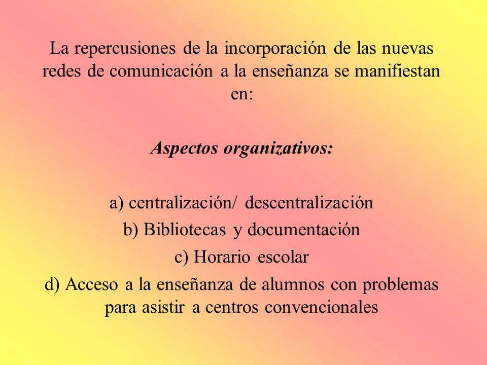 Aspectos organizativos: