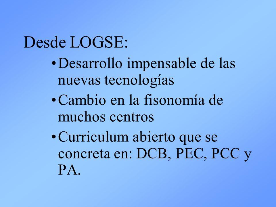 Desde LOGSE: Desarrollo impensable de las nuevas tecnologías