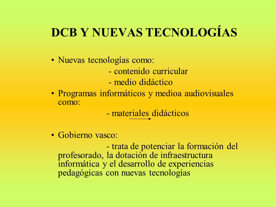 DCB Y NUEVAS TECNOLOGÍAS
