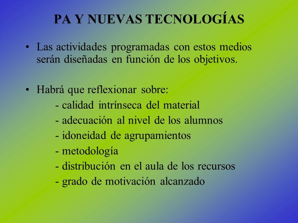 PA Y NUEVAS TECNOLOGÍAS