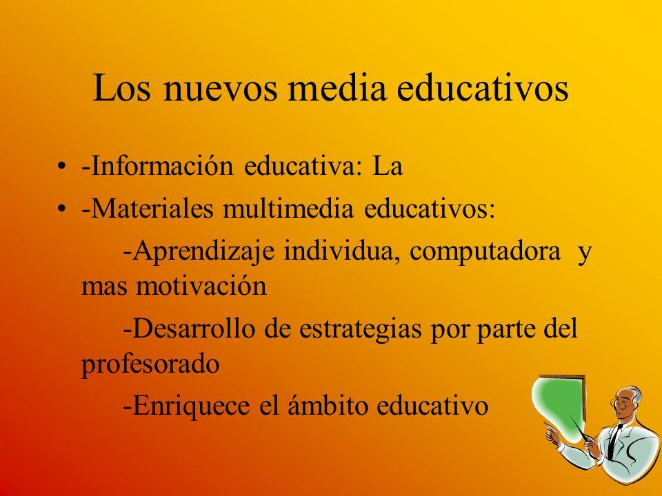 Los nuevos media educativos