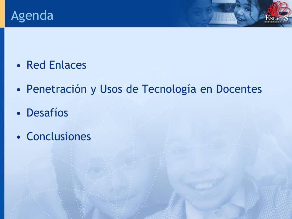 Agenda Red Enlaces Penetración y Usos de Tecnología en Docentes