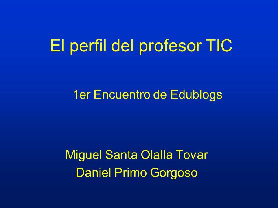 El perfil del profesor TIC