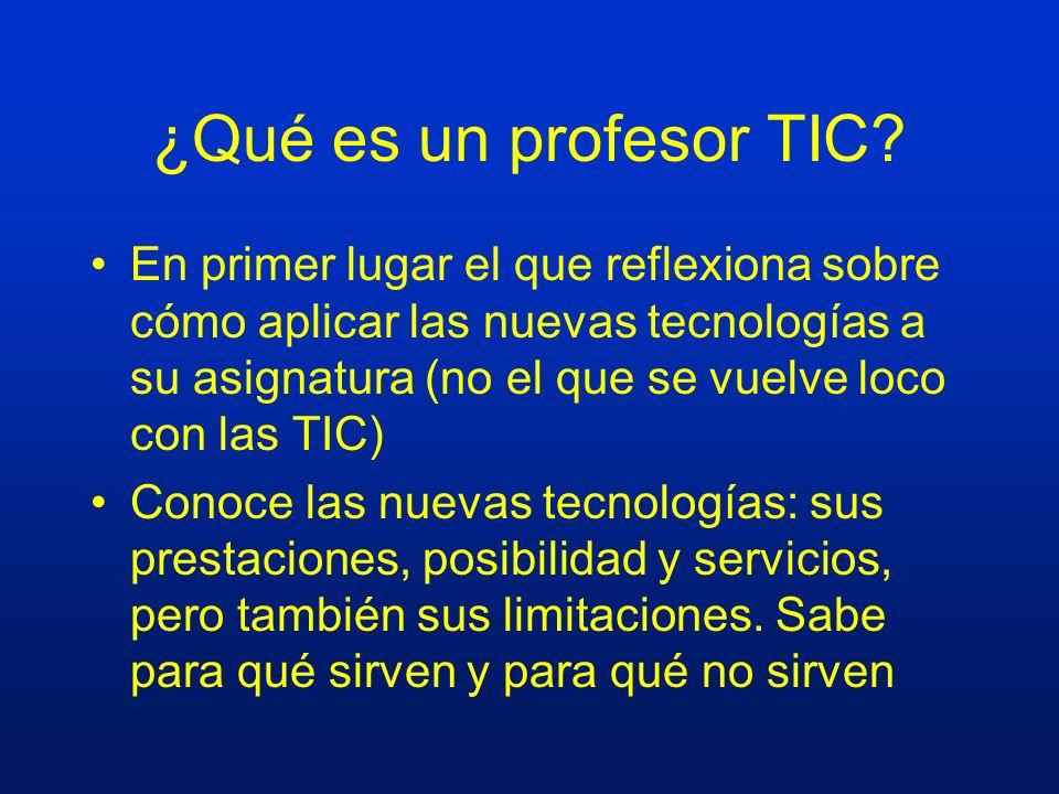 ¿Qué es un profesor TIC