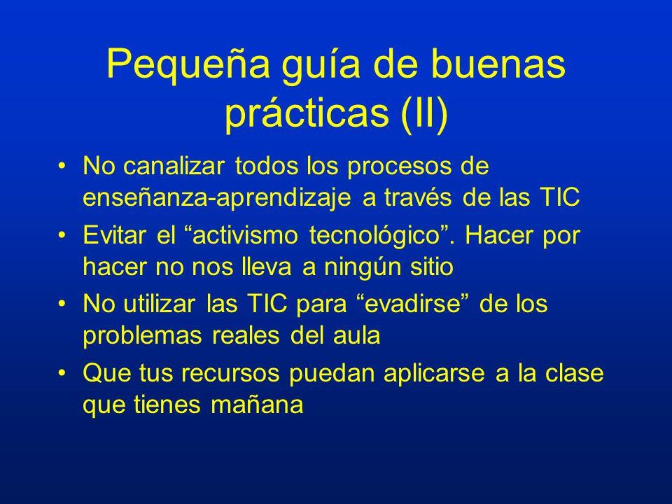 Pequeña guía de buenas prácticas (II)
