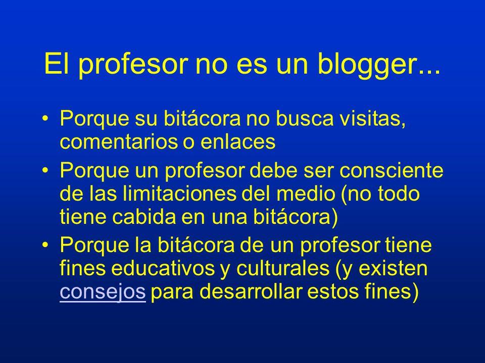 El profesor no es un blogger...