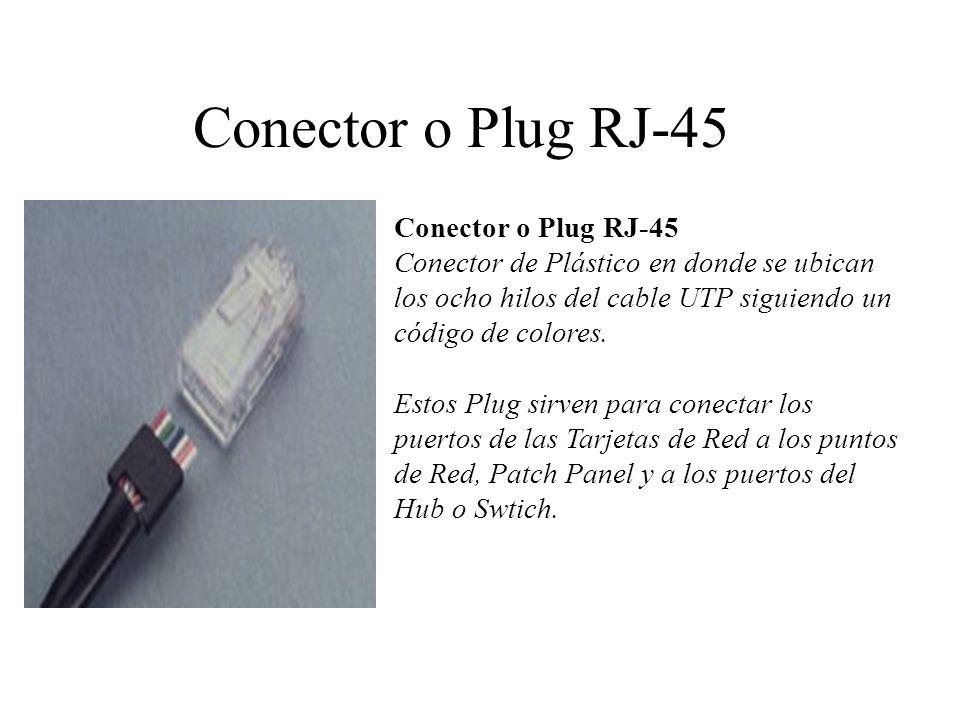 Conector o Plug RJ-45 Conector o Plug RJ-45