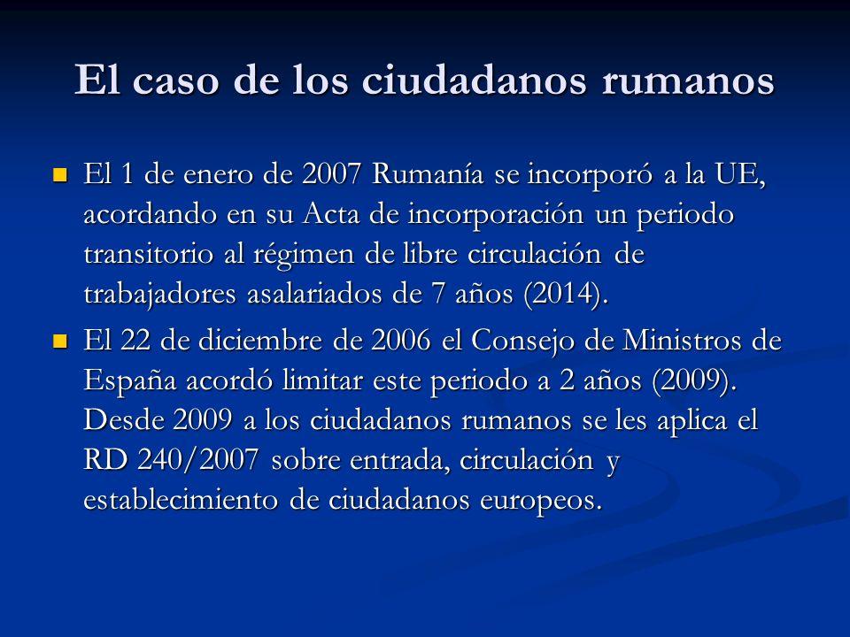 El caso de los ciudadanos rumanos