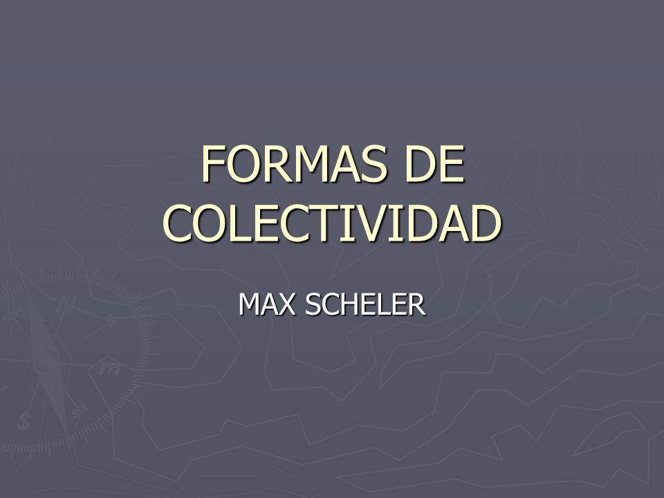FORMAS DE COLECTIVIDAD