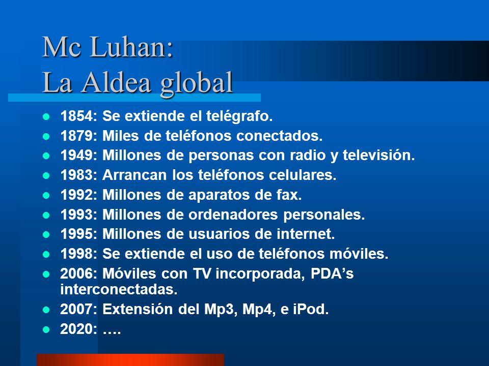 Mc Luhan: La Aldea global