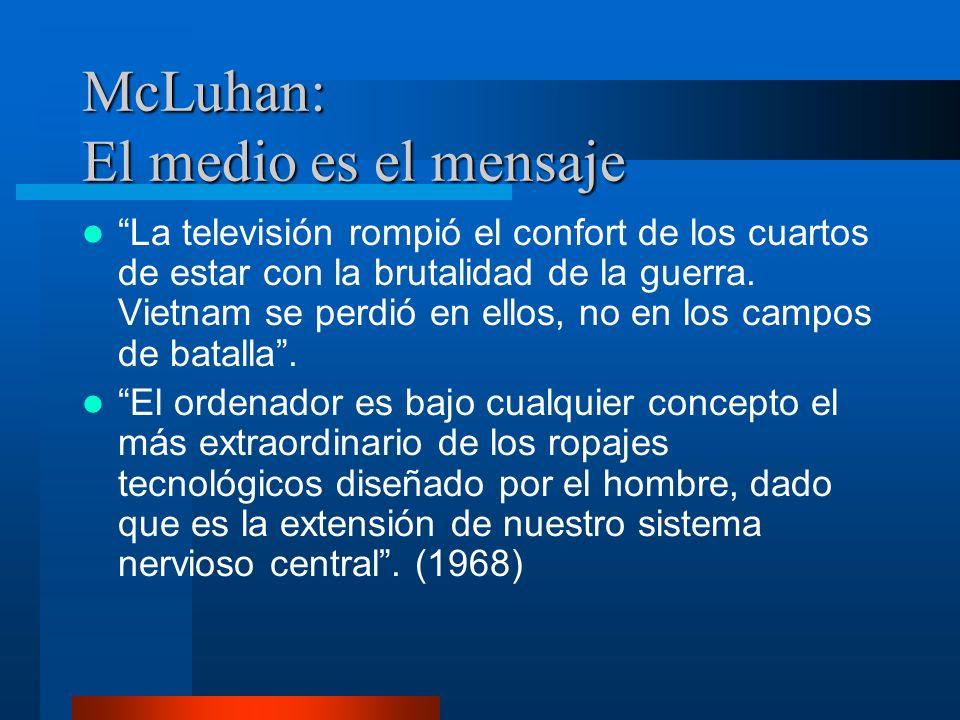McLuhan: El medio es el mensaje