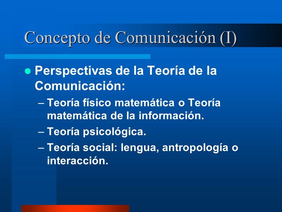 Concepto de Comunicación (I)