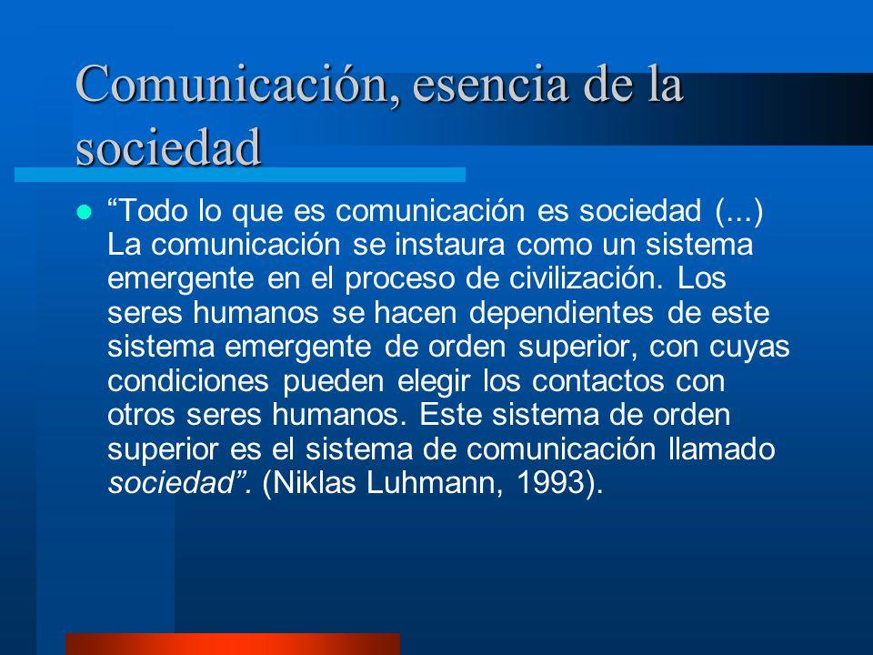 Comunicación, esencia de la sociedad