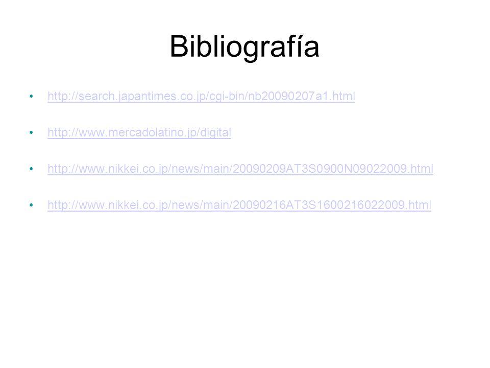 Bibliografía http://search.japantimes.co.jp/cgi-bin/nb20090207a1.html
