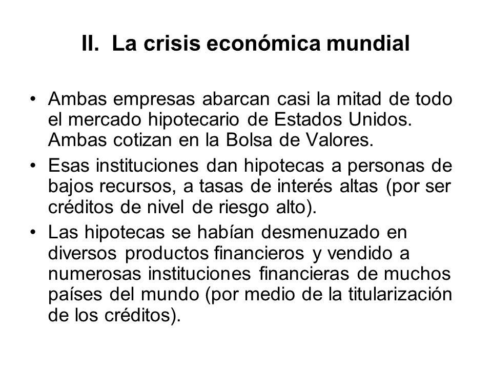 II. La crisis económica mundial