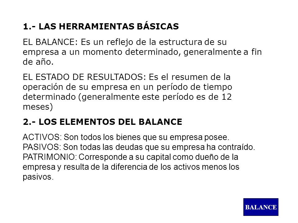 1.- LAS HERRAMIENTAS BÁSICAS