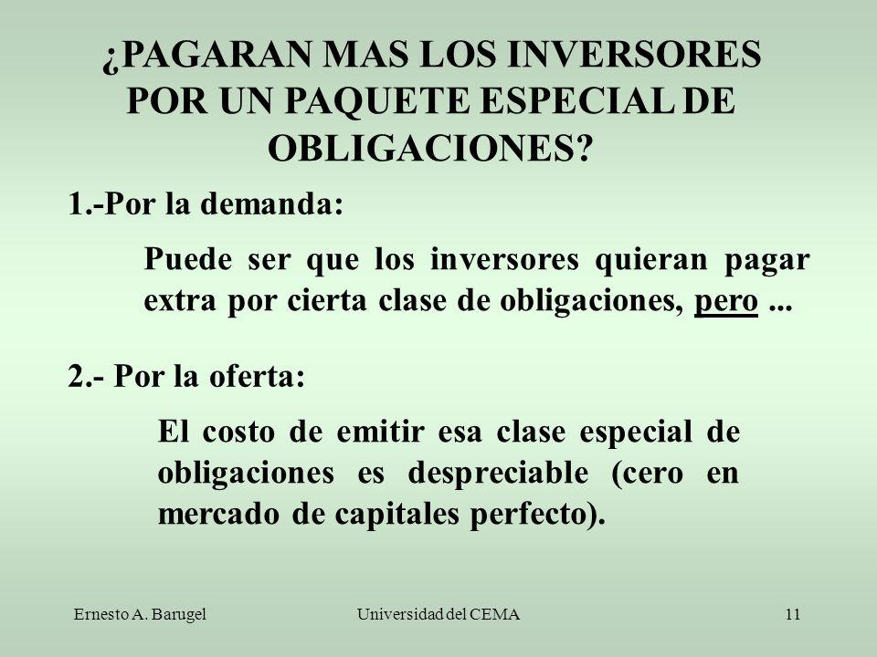 ¿PAGARAN MAS LOS INVERSORES POR UN PAQUETE ESPECIAL DE OBLIGACIONES